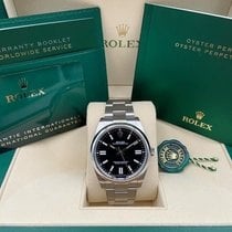 Rolex Oyster Perpetual Steel 41mm Black No numerals United States of America, New York, New York