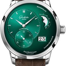 Glashütte Original PanoMaticLunar Steel 40mm Green United States of America, New York, Airmont