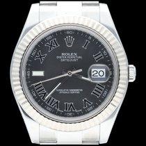 Rolex Datejust II Acero 41mm Negro Romanos