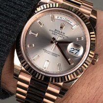 Rolex Rose gold Automatic Grey No numerals 40mm new Day-Date 40