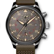 IWC Pilot Chronograph Top Gun Miramar подержанные 44mm Cерый Хронограф Дата Кожа