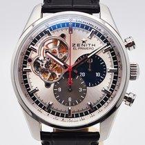 Zenith El Primero Chronomaster Stahl 42mm Silber Keine Ziffern