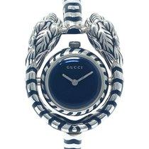 Gucci Silber 33.5mm Quarz YA149501 neu