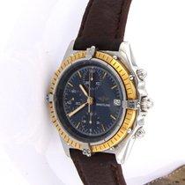 Breitling Chronomat Acero y oro 40mm Azul Sin cifras