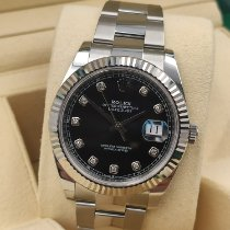 Rolex White gold Automatic Black No numerals 41mm new Datejust II