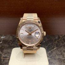 Rolex Day-Date 40 gebraucht 40mm Pink Datum Roségold