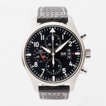 IWC Pilot Chronograph Steel 43mm Black Arabic numerals United Kingdom, Guildford,Surrey