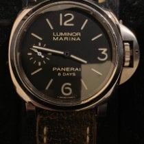 Panerai Luminor Marina 8 Days Acero 44mm Negro Arábigos