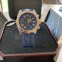 Breitling Crosswind Special gebraucht 42mm Blau Chronograph Datum Tachymeter Haifischleder