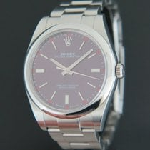 Rolex Oyster Perpetual 39 Stahl 39mm Rot