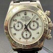 Rolex Or blanc Remontage automatique Blanc 40mm occasion Daytona