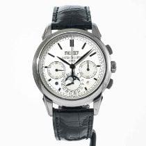Patek Philippe Perpetual Calendar Chronograph Oro blanco 41mm Plata Sin cifras