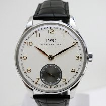 IWC Portuguese Hand-Wound Сталь 44mm Белый