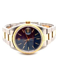 Rolex Oyster Perpetual Date Gold/Steel Blue United States of America, New York, New York