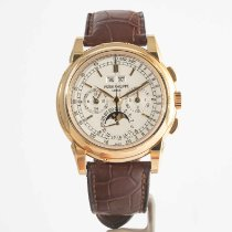 Patek Philippe Perpetual Calendar Chronograph Yellow gold 40mm Silver