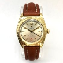 Rolex Yellow gold Manual winding Silver pre-owned Bubble Back