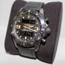 百年靈 Chronospace Military 二手 46mm 黑色 計時碼錶 日期 鬧鐘 格林尼治標準時間 (GMT) 紡織