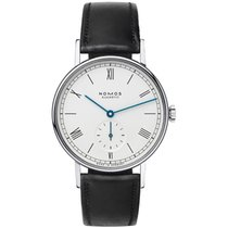 NOMOS Steel 35mm Manual winding 205 Ludwig Stahl Glasboden Occasion new