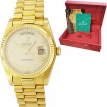 Rolex Day-Date 36 Yellow gold 36mm Champagne Roman numerals United States of America, New York, Massapequa Park