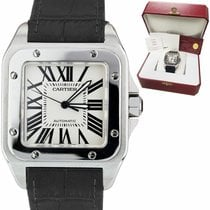 Cartier Santos 100 pre-owned 38mm Date Leather