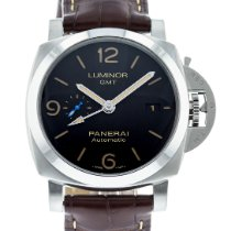 Panerai Luminor 1950 3 Days GMT Automatic pre-owned 44mm Black Date Leather