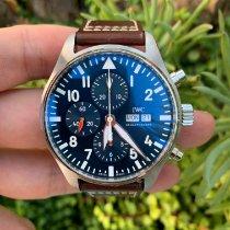 IWC Pilot Chronograph Ατσάλι 43mm Μπλέ Αραβικοί