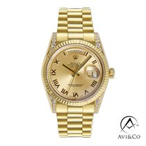 Rolex Day-Date 36 Yellow gold 36mm Champagne Roman numerals United States of America, New York, New York