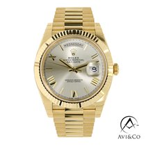 Rolex Day-Date 40 occasion 40mm Argent Date Or jaune