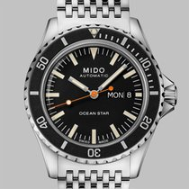 Mido Ocean Star Stal 40.5mm Czarny Bez cyfr
