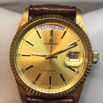 Margi Yellow gold 35mm Automatic 14606 new