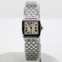 Cartier Santos Demoiselle Stahl 20mm Weiß Römisch