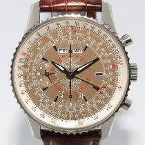 Breitling Montbrillant Datora Steel 43mm Brown Arabic numerals