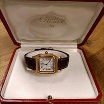 Cartier Santos (submodel) Gelbgold 27mm Weiß Römisch