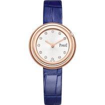 Piaget новые Кварцевые Отделка драгоценными камнями/бриллиантами 29mm Pозовое золото Сапфировое стекло