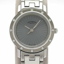 Hermès Stahl Quarz Blau 24mm gebraucht Clipper