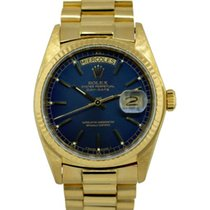 Rolex Day-Date 36 Yellow gold 36mm Blue United States of America, Florida, Boca Raton