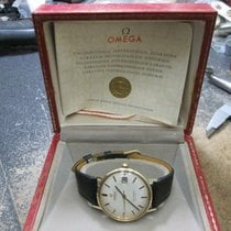 Omega Seamaster DeVille Yellow gold 34mm White No numerals United States of America, New Jersey, Upper Saddle River