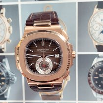 Patek Philippe Nautilus 5980R-001 Very good Rose gold 40.5mm Automatic
