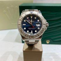Rolex Platine Remontage automatique Bleu Sans chiffres 40mm occasion Yacht-Master 40