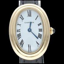 Cartier Baignoire Or jaune 23mm Blanc Romains