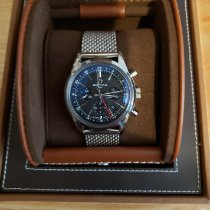 Breitling Transocean Chronograph GMT Acero 43mm Negro