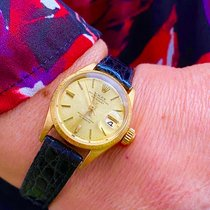 Rolex Oyster Perpetual Lady Date Yellow gold 26mm Champagne No numerals United States of America, Florida, Pembroke Pines