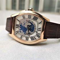 Cartier Tortue Złoto różowe 51mm Srebrny Rzymskie