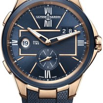 Ulysse Nardin Executive Dual Time Rose gold 42mm Blue United States of America, New York, Airmont