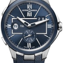 Ulysse Nardin Executive Dual Time Steel 42mm Blue United States of America, New York, Airmont