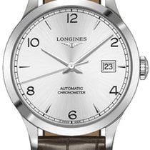 Longines Record Stahl 38.5mm Silber