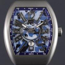 Franck Muller Vanguard V 45 SC DT CAMOUFLAGE Nieuw Titanium Automatisch