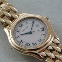 Cartier Cougar Gelbgold 33mm Weiß Römisch Deutschland, Buxtehude