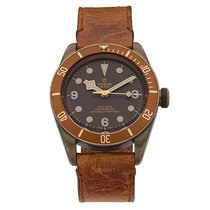 Tudor Steel Automatic Brown No numerals 43mm pre-owned Black Bay Bronze
