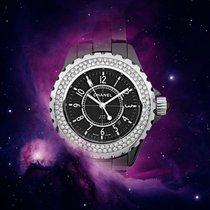 Chanel Acier Quartz Noir Arabes 34mm occasion J12